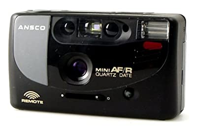 Ansco Mini AF/R 35mm Film Camera Vintage Point & Shoot Flash Date Remote from Ansco