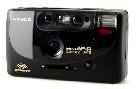 Ansco Mini AF/R 35mm Film Camera Vintage Point & Shoot Flash Date Remote by Ansco