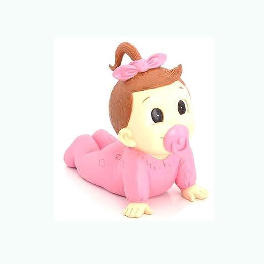 Muñeco para la tarta Figura tarta bautismo niña con chupete, para bautizo o BABY SHOWER. Hucha