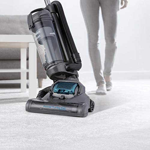 Swan TurboPower Pet Extend Upright Vacuum, Ultra Lightweight, 3L Capacity, 400 Motor, 9.3m Power Cord, 2m Hose, Detachable Handle, Energy Class A++, SC15834N, Grey, Blue