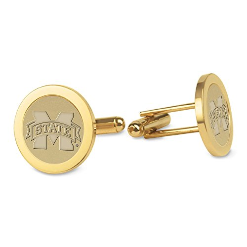 NCAA Mississippi State Bulldogs Adult Men Cufflinks, One Size, Gold ()