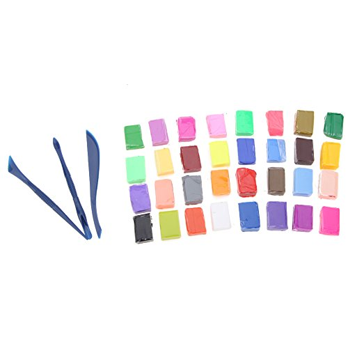 32 Colors DIY Polymer Clay Modeling Block With Three-piece Tool - 1