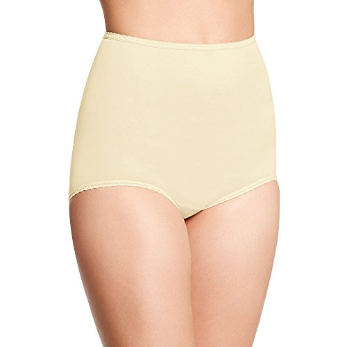 Bali Microfiber Full Coverage Skimp Skamp Brief 3-Pack, 10, ()