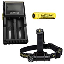 Combo: Nitecore HC30 Headlamp w/ D2 Charger & NL189 Battery