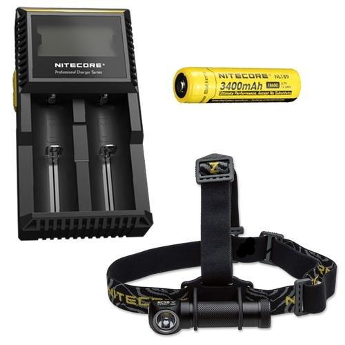 Combo  Nitecore HC30 Headlamp w D2 Charger & NL189 Battery