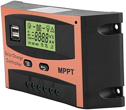 Solar Tracking Controller, MPPT Solarpanel Regulador Auto-Batterie-Controller 12V/24V Clear Led großes Display mit Digitalanzeige(60A)