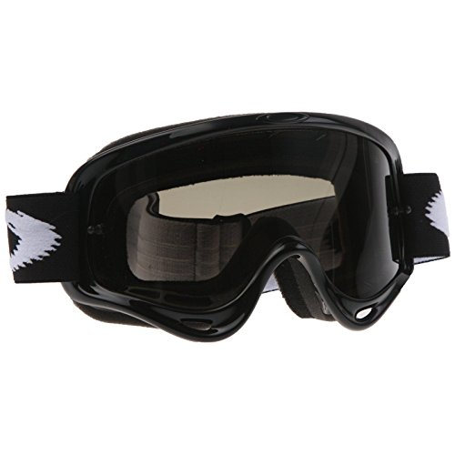 Oakley O-Frame MX Goggles (Jet Black Frame/Dk Grey Lens, One Size) (Goggles Frame Ski O Oakley)