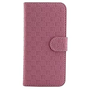 Generic Tartan Design PU Leather Wallet Design Flip Case Cover for Apple iPhone 6