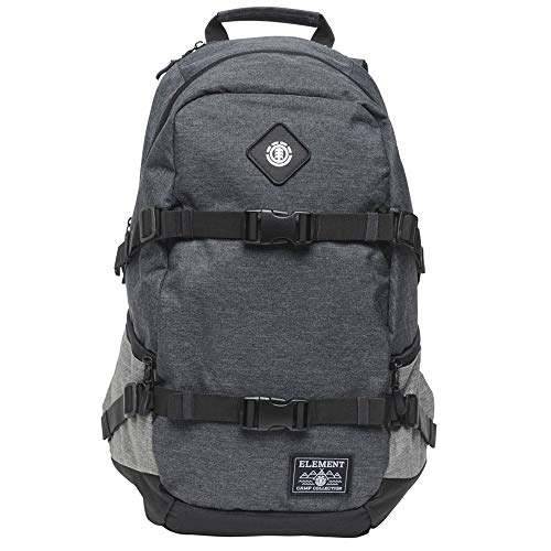 Element Unisex-Adult's Jaywalker Skate Backpack with Straps and Laptop Sleeve, Black Heather, One Size