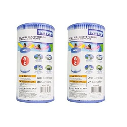 Cheap Intex 29000E/59900E Easy Set Pool F24Sd Replacement Type A or C Filter Cartridge - (Pack of 2) hot sale