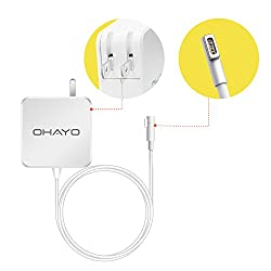Macbook Pro Charger, OHAYO Replacement Macbook Charger 60w Magsafe (L-Tip) AC Power Adapter Charger for Apple Macbook Pro 13.3