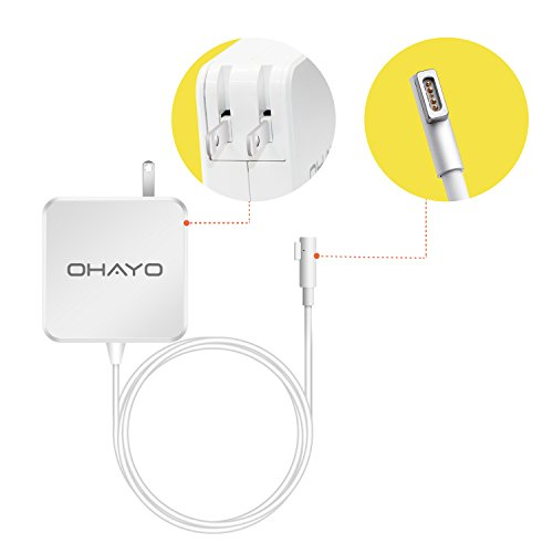 Learn More About Macbook Pro Charger, OHAYO Replacement Macbook Charger 60w Magsafe (L-Tip) AC Power...