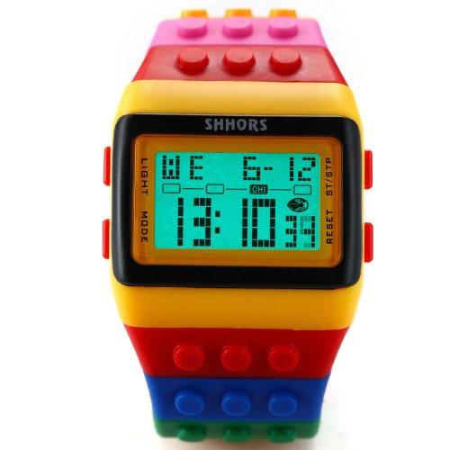 SHHORS-Reloj-Digital-unisex-correa-de-silicona-multicolor-con-LED-deportivo-LED091