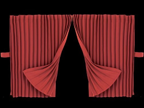 Pleated point side curtain standard 500 × 800 wine 190-0145 by Mad Max