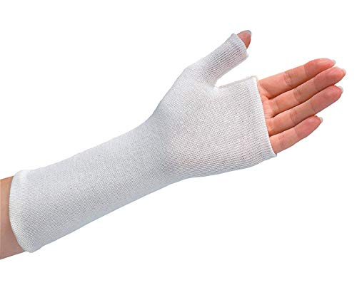 Rolyan Thumb Spica Stockinette, Cotton Wrist Sleeve for Extra Comfort in Splints, Splint Fabrication Liner, Lightweight Wrap, Pack of 10 Size Small Sleeves