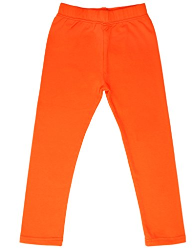 high5-solid-little-girls-cotton-legging-neon-orange-11-12