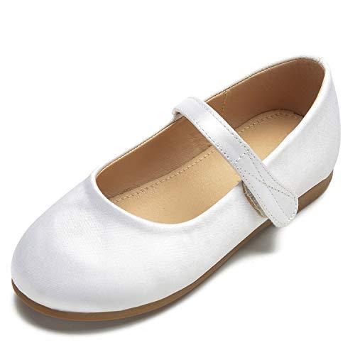 Rond Femme White Fermé Bout L Enfants Ivoire mariage Formel Parti yc Chaussures Boucle Pompes zxwwgOR