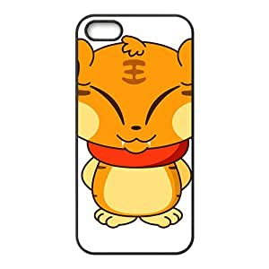 Cute Cartoon Tiger Hight Quality Plastic Case for Iphone 5s