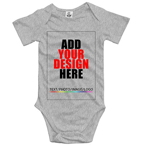 (BESEON Customized Unisex Baby Bodysuit Romper Design Your Own Shirt Add Your Image Text)