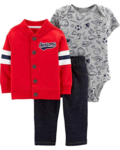 (Carter's Baby Boys' Cardigan Sets (18 Months, Awesome))
