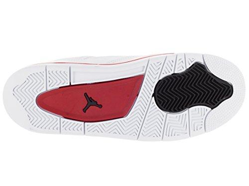 Nike Air Jordan Männer 4 Retro Basketballschuh Weiß / Schwarz-Gymnastik Rot