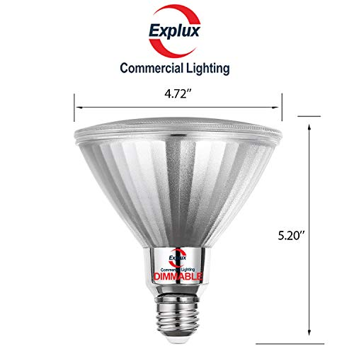 Explux PAR38 Red LED Spot Light Bulbs, Dimmable, Outdoor Weatherproof, 120W Equivalent, 2-Pack