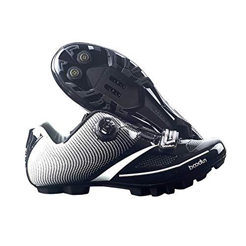 Zapatillas de Ciclismo para Hombre 2018 Transpirable Suave Zapatillas MTB Bicicleta de montaña con autoblocaciones Deportivas Zapatillas de Bicicleta de ...