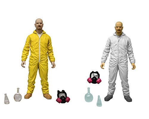 Mezco Toyz Breaking Bad: Walter White in Yellow & White Hazmat Suits Action Figure