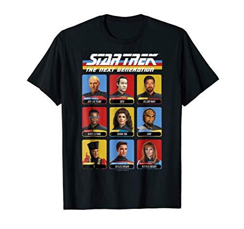 - Star Trek Next Generation 9 Cast Members Graphic T-Shirt