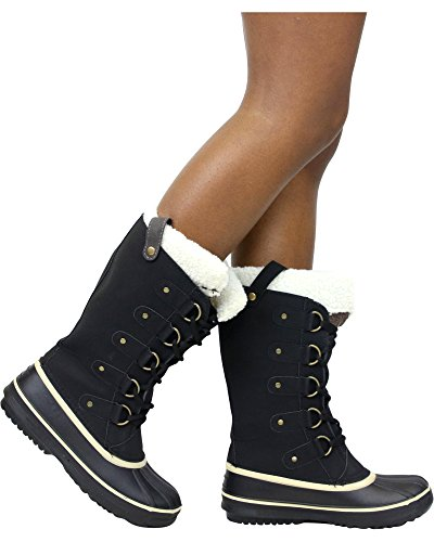 Black PINKY Boot Collection Via Snow Women's gwAgUF