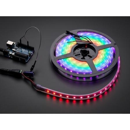 Flora NeoPixel 60 RGB LED Strip in 4M Reel - Black Backing