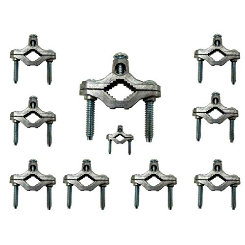 (10 Cold Water Pipe Ground Clamps Zinc fits 1/2-1 UL Approved)