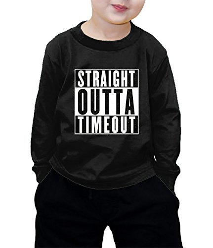 Outta Time T-shirt - HAASE UNLIMITED Straight Outta Timeout Long Sleeve Shirt (Black, 4T)