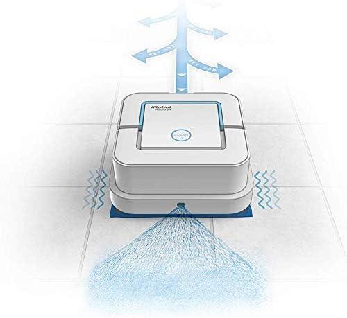 8bayfa Meyeye Braava Jet 240, Balai de Robot par pulvérisation d\'eau, 3 à 1: Sec, Humide et Nettoyage par Voie Humide, Le for salles de Bains et Cuisines