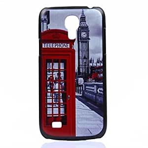 QJM 20150511 Telephone Booth Pattern PC Hard Back Cover Case for Samsung Galaxy S4 Mini I9190