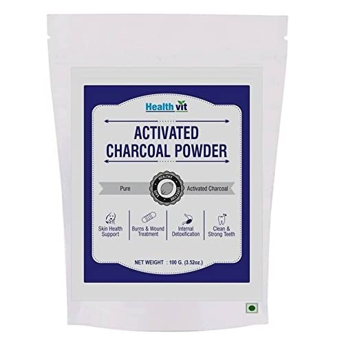 Healthvit Activated Charcoal Powder - 100 G
