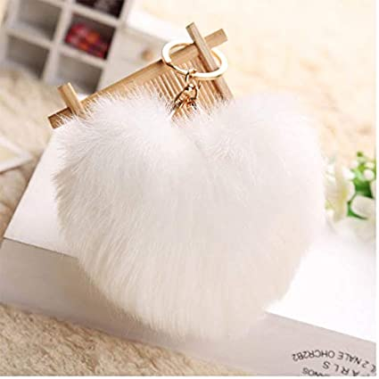 Amazon.com: Rarido Porte Clef Women Love Heart Fluffy ...