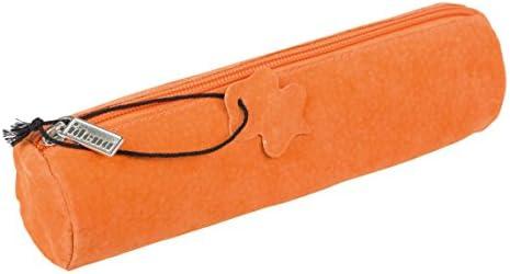 Idena 20028 – Estuche piel, redonda, color naranja: Amazon.es: Oficina y papelería