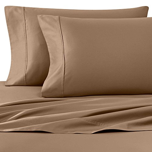 Wamsutta 400-Thread-Count Sateen Queen Sheet Set in Canvas Brown