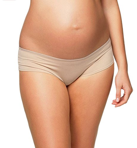 Cake Lingerie Women's Maternity Croissant Brief Panty,Nude,X-Large
