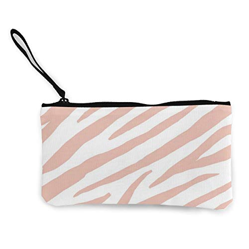Terany Canvas Pencil Case - Zebra Stripes Durable Cosmetic Makeup Bag Zipper Closure Coin Purse Wallet Phone Pouch with Handle for Women Kids Adults]()