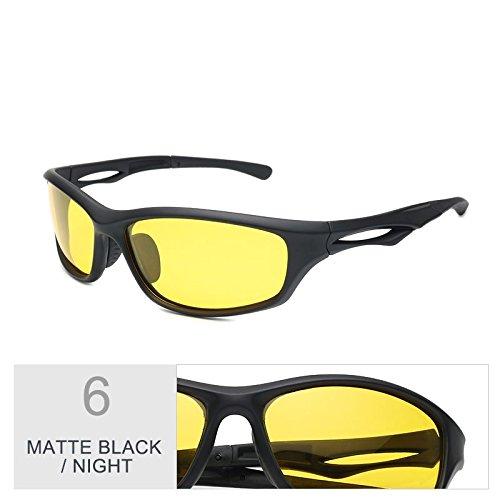 Deporte TIANLIANG04 Luz Gafas Piscina Polarizadas Conducción Sol Black Gafas Nocturna Hombre Deportivos Night De Lentes Negro Gris Matte De Para Confortable w8An0rAqI