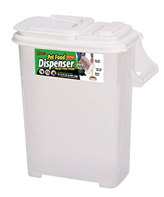 Buddeez Medium (Up to 12lb) Fresh Dry Dog & Cat Food Plastic Storage Container With Flip Lid and Pour Spout For Pet Food and Bird Seed, BPA Free by