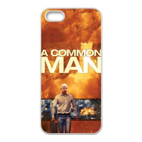 Y5P24 un homme du commun à haute résolution affiche U2N2BT coque iPhone 5 5s cellule de cas de téléphone couvercle coque blanche RW4QSN4RX