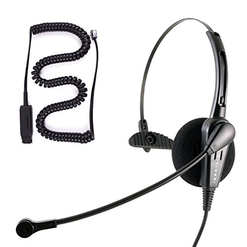 InnoTalk Headset for Avaya IP 1608, 1616, 9601, 9608, 9610, 9611, 9611G - Economic Monaural Noise Cancel Micro Phone Office Headset by InnoTalk