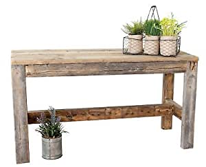 August Grove Marsh Reclaimed Wood Bench, Natural