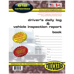 Carbonless Daily Planner - Truckers Supply 612TS Canadian Drivers Daily Log & Vehicle Inspection Report Book Carbonless
