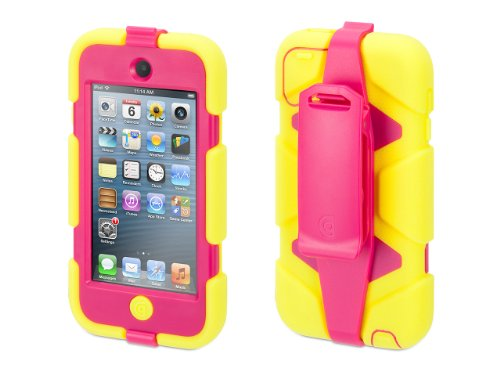 Griffin Citron/Pink Survivor Case + Belt Clip for iPod touch (5th/ 6th gen.) - Extreme-duty case by Griffin Technology