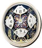 "NEW! Seiko ""Kaliedoscope"" Melodies in Motion Pendulum Wall Clock, QXM239SRH"