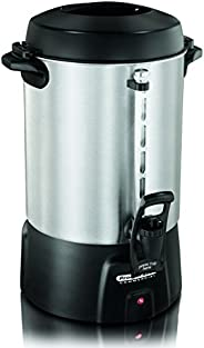 Proctor Silex Commercial 45060R Coffee Urn 60 Cup Aluminum, One Hand Dispensing, Coffee Level Indicator, 16.93